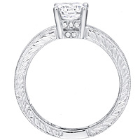 Simone round-cut diamond with open channel-set diamond band by Eternity (.50 ctw.)