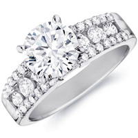 Gisele Diamond Ring with Diamond Accented Band (.71 ctw.)