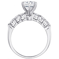 Courtney Diamond Ring with Diamond Studded Band by Eternity (.53 ctw.)