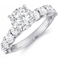 Charmaine Diamond Ring with Diamond Studded Band (.75 ctw.)