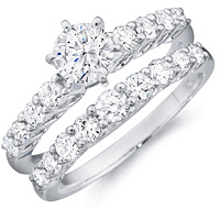 Camille round-cut diamond Engagement Ring with Matching Band by Eternity (1.08 ctw.)