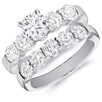 Rachel Prong Set Engagement Ring and Matching Band (2.01 ctw)