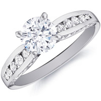 Lindsay Channel Set Diamond Ring (.42 ctw)