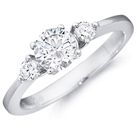 Frida round-cut diamond with round-cut diamond accents by Eternity (.20 ctw.)