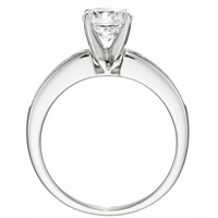 Isabelle Diamond Solitaire with Channel-Set Diamond Band by Eternity (.21 ctw.)