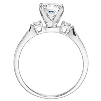 Marguerite Diamond Solitaire with Diamond Accents by Eternity (.17 ctw.)