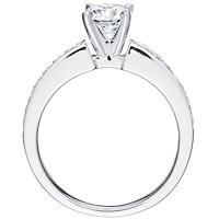 Olga diamond solitaire with diamond band by Eternity (.27 ctw.)