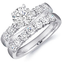 Hayley Diamond Engagement Ring and Band Set by Eternity (2.00 ctw.)
