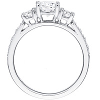 Rosalind diamond ring with diamond accents and diamond band by Eternity (.39 ctw.)