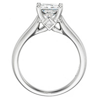 Tabitha Princess-Cut Diamond Solitaire with Wide Band by Eternity (.14 ctw.)