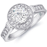 Bianca Milgrain Cathedral Halo Setting (.43 ctw.)