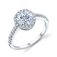 Lucette Diamond Halo Ring