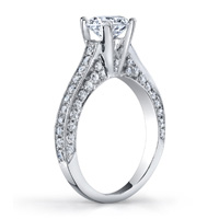 Marla Cathedral Diamond Ring (.76 ctw.)