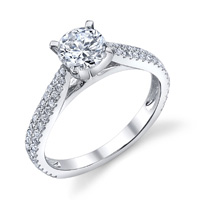 Anya Pave Cathedral Diamond Ring (.40 ctw.)